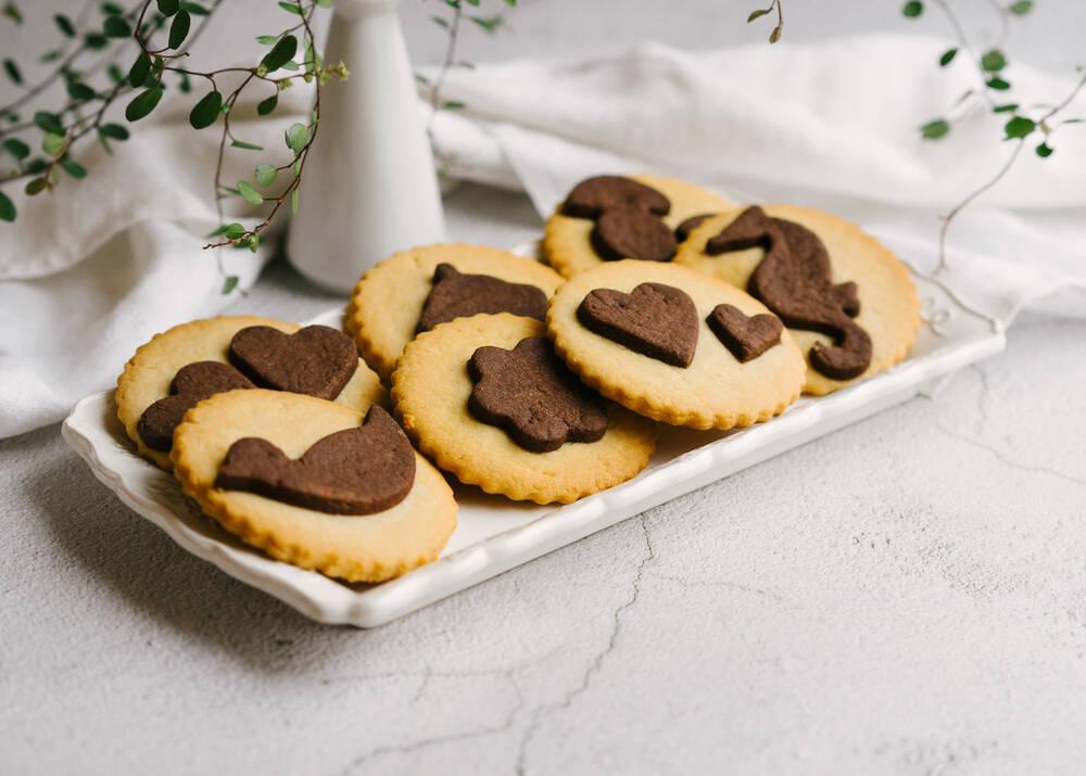 Sviestiniai dekoruoti sausainiai
